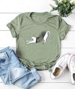 Plus Size Accordion Cat T-Shirt