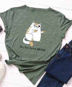 Plus Size You're Awesome Cat T-Shirt