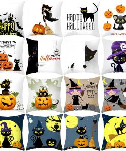 Cute Assorted Halloween Cat Cushion Covers