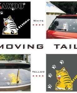 Cute Rear Window Wiper Cat Stickers