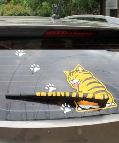 Cute Rear Window Wiper Cat Stickers