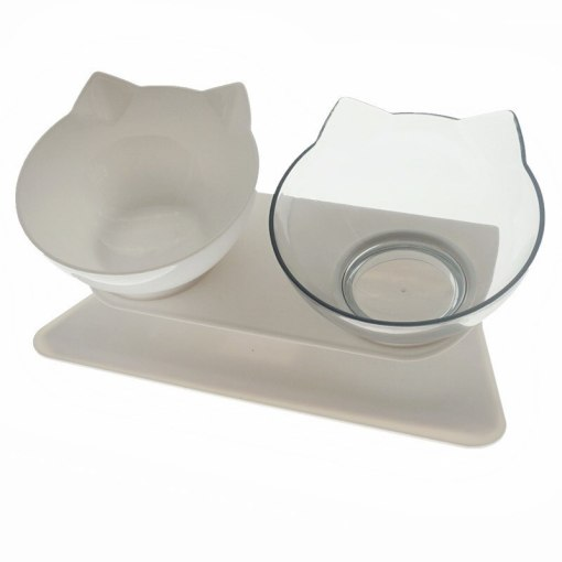 Raised Cat Face Shaped Non-Slip Dish