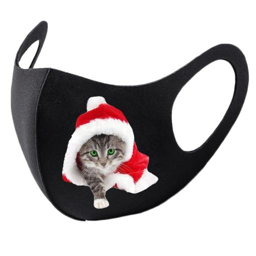 Cute Christmas Cat Face Masks
