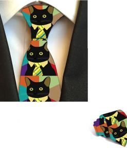 Men's Cat Design Necktie