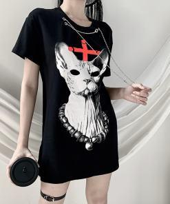 Goth Sphinx Cat T-Shirt