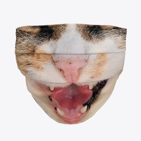 Talking Cat Face Mask