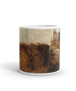 Henriette Ronner Knip Brown Cat Mug