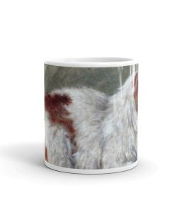 Cat Sitting on a Pillow Art Mug