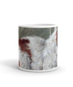 Cat Sitting on a Pillow Art Mug