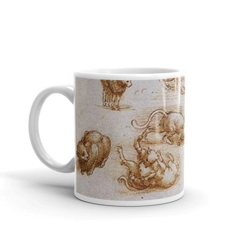 Da Vinci Cat Art Mug