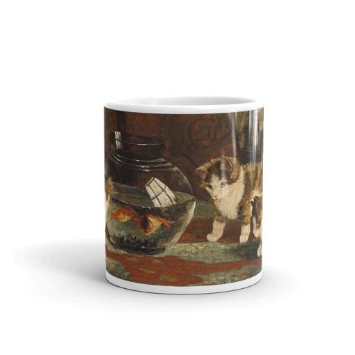 Kittens and Goldfish Art Mug