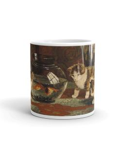 Kittens and Goldfish Art Mug
