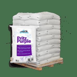 50lb bag of Pritz Purple in front of pallet