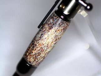 Hand Crafted 30 Cal. Carbine Mini Bolt Action Bullet Pen with Deer Antler Barrel