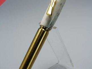 Handmade Real 30.06 Bullet Pen with Brass Cartridge and Copper Bullet Tip Antler Barrel