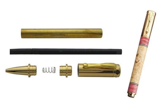 Zen Magnetic Cap Rollerball Pen Kit – Gold Plating