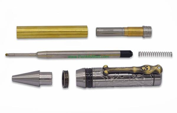 Pirate Panic Ballpoint Pen Kit – Antique Silver and Bronze