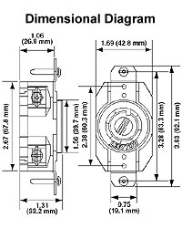L14-30r Wiring Diagram : l14-30r, wiring, diagram, Leviton, L14-30R, 125/250V, Twist, Receptacle, TremTech, Electrical, Systems