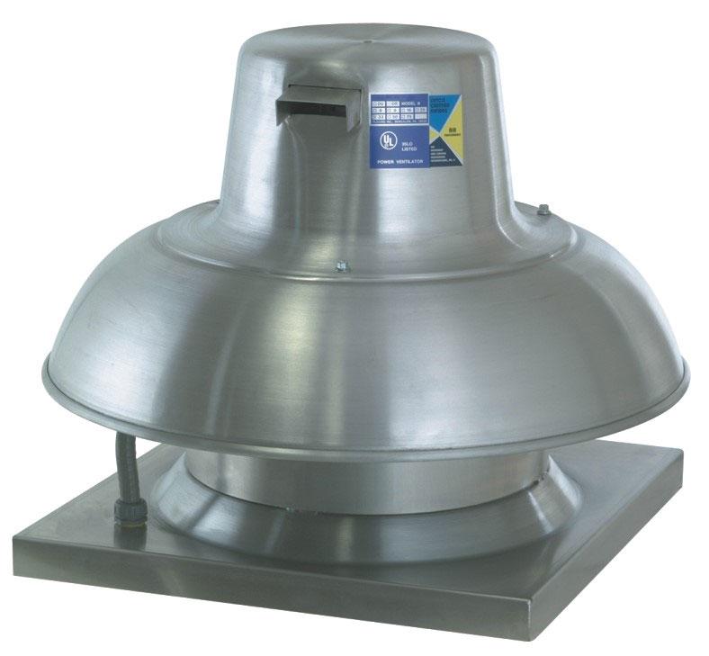 direct drive downblast exhaust fan