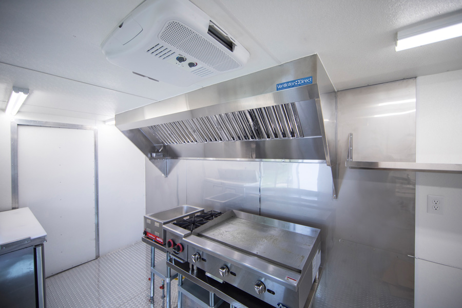 kitchen fan two seat table ventilation direct 5 mobile hood system with exhaust picture of