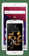 LG K8 White + Android tablet