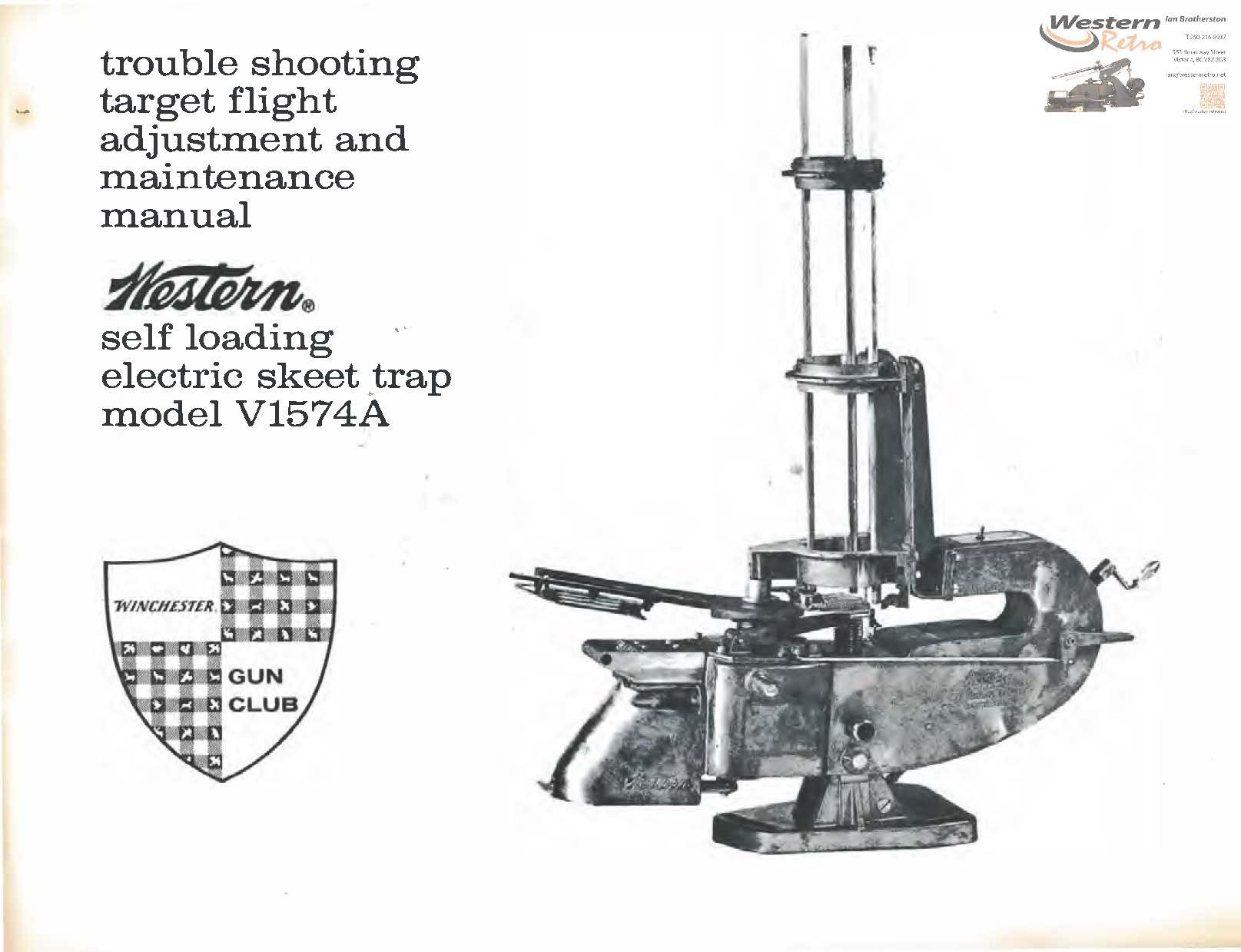 Western Self Loading Skeet Manual