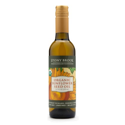 organic sunflower oil, USA grown and made