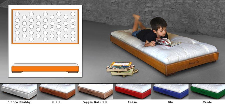 Lettino Montessori lunico 100 senza sostanze sintetiche