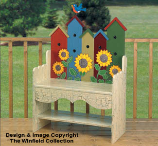 The Winfield Collection Birdhouse Bench Plan Workshop
