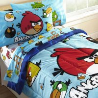 nEw 4pc ANGRY BIRDS TWIN BEDDING SET - Bird Pig Video Game ...