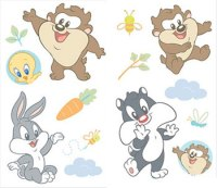 Baby Looney Tunes - Peel and Stick - 29 Wall Stickers ...