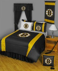 4pc nEw NHL BOSTON BRUINS Comforter Sheets - Hockey Bed-in ...