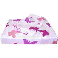 one twin single size flat sheet fitted sheet and