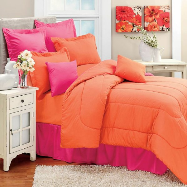 Coral Twin Comforter Set