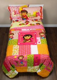Dora Explorer Puppy Full Bedding Set