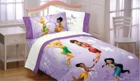 Disney Tinkerbell Flight Twin Bed Sheet Set - 3pc Fairies ...