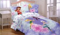 Disney Fairies Floral Twin-Full Comforter - Periwinkle ...