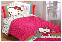 Hello Kitty Bed Sheet Set - Sanrio Peace and Love Bedding ...