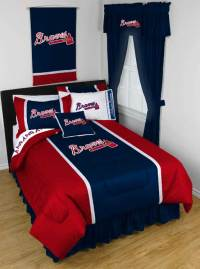 MLB Atlanta Braves Queen-Full Comforter Set - 3pc Baseball ...