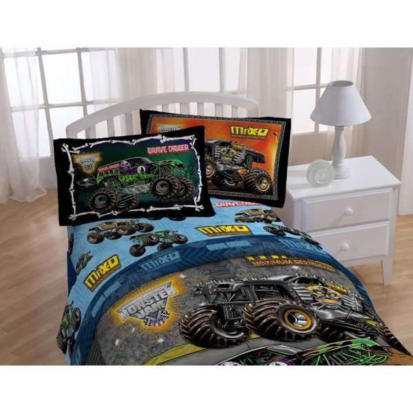 Grave Digger Monster Truck Twin Bed Sheet Set - 3pc