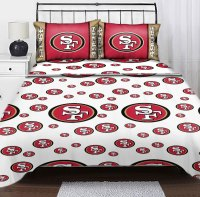 nEw NFL SAN FRANCISCO 49ERS Logo TWIN SHEET SET - Football ...