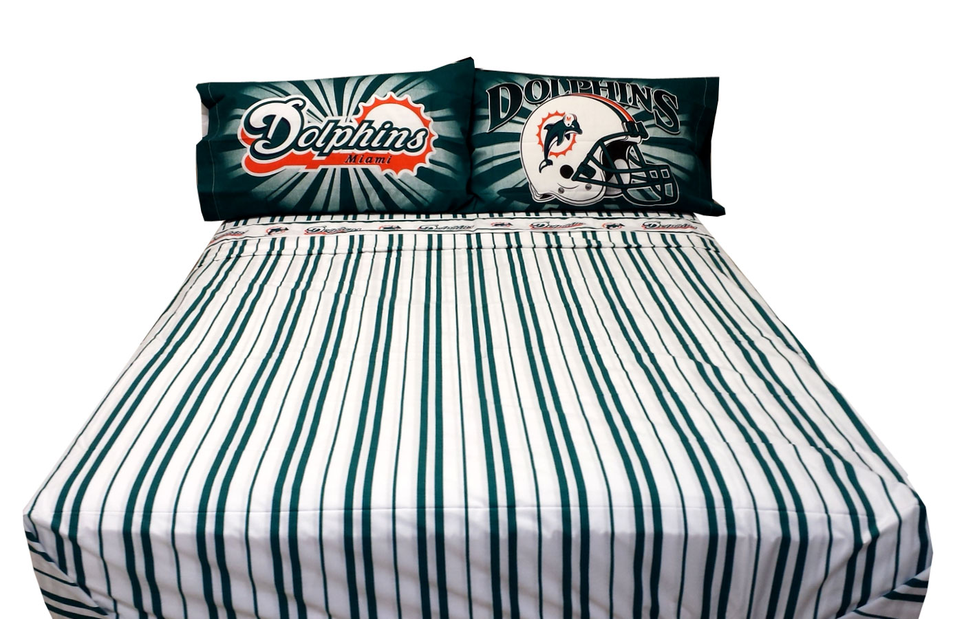 Nfl Football Miami Dolphins Bed Sheet Set
