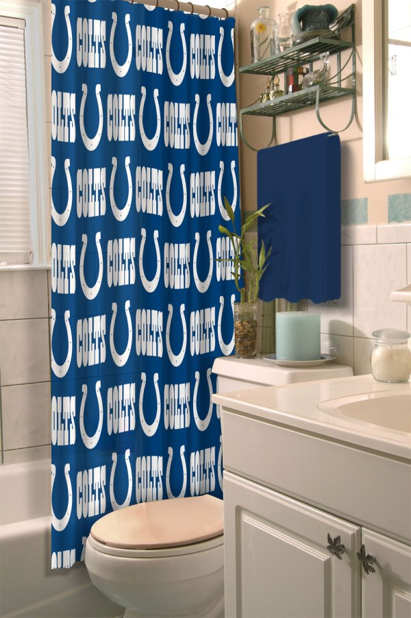 Nfl Indianapolis Colts Shower Curtain Football Bathroom
