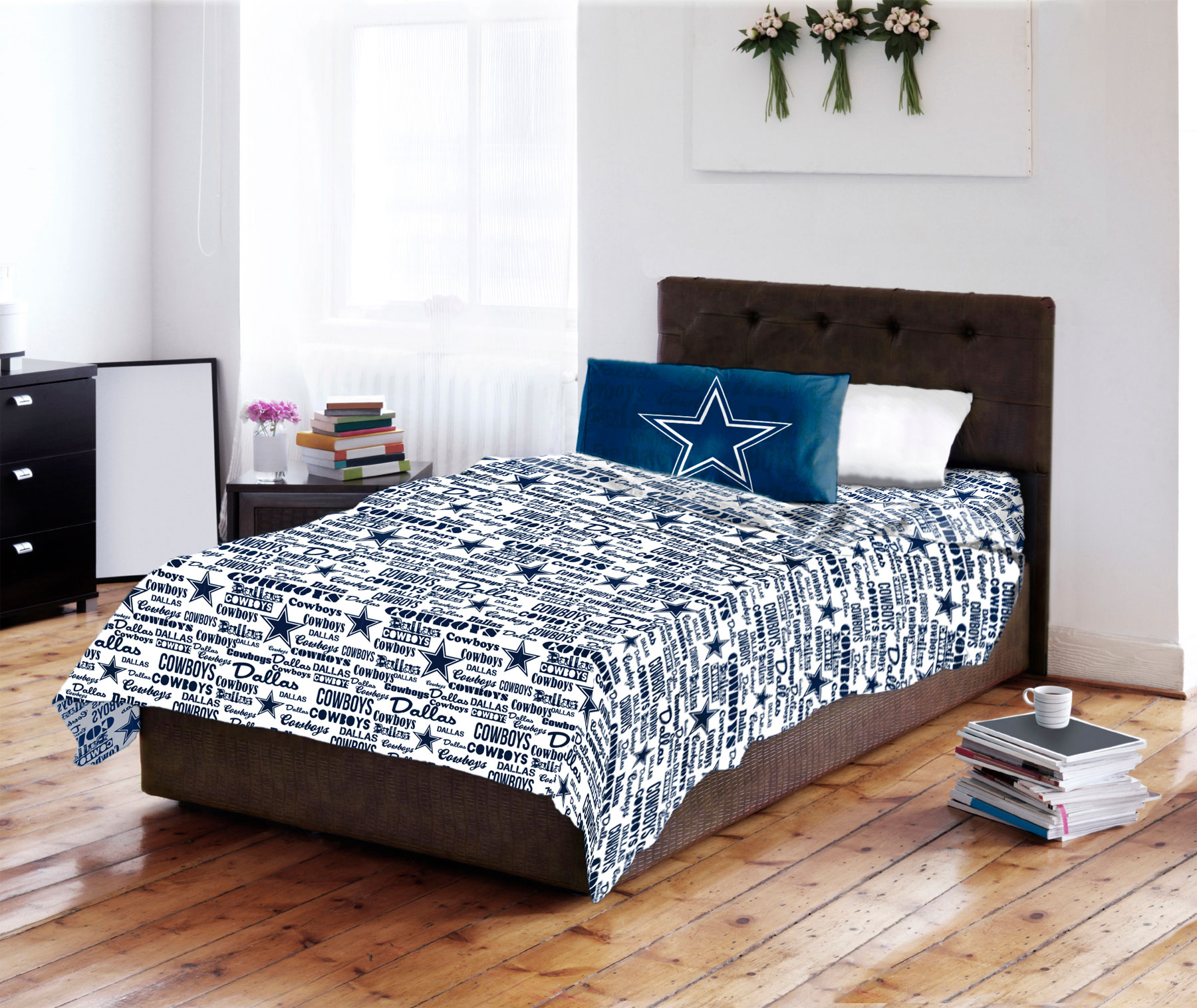 Nfl Dallas Cowboys Anthem Bed Sheets And Pillowcase Set