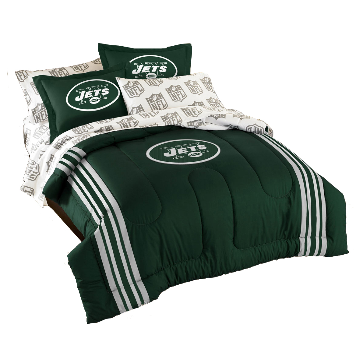 5pc New York Jets Bedding Set