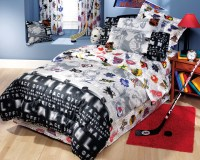 NHL Hockey Montage - 3pc Bed Sheets Set - Twin Bedding