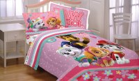 Paw Patrol Twin Bed Sheet Set - 3pc Best Pup Pals Skye and ...