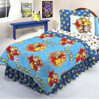 Pokemon Blast - 5pc Bedding Set - Full-Double Size