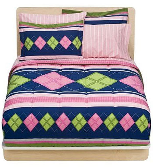nEw 7pc PREPPY GIRL Pink Teen Bed