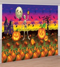 Halloween Wall Mural - Pumpkins Poster Banner - Party ...